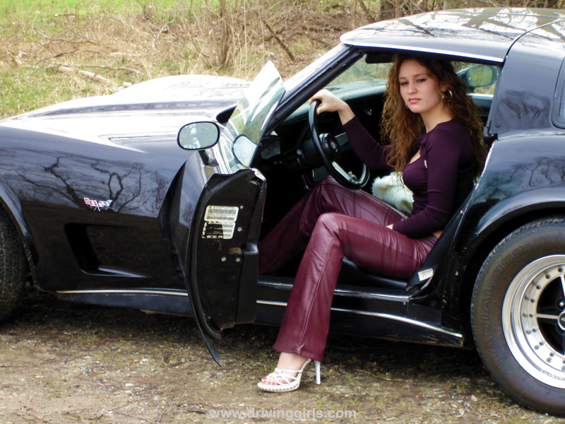 Black girl drive corvette stingray