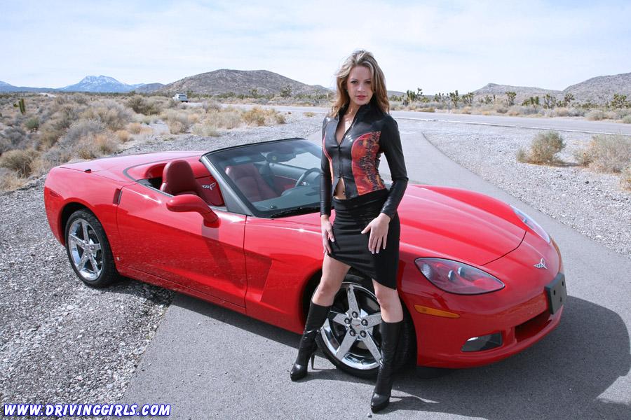 Black girl drive corvette stingray 5